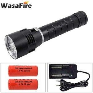 Image 1 - Wasafire 10000 Lumens צלילה לפיד מקצועי עוצמה led עמיד למים לצלילה פנס צולל אור LED מתחת למים פנס