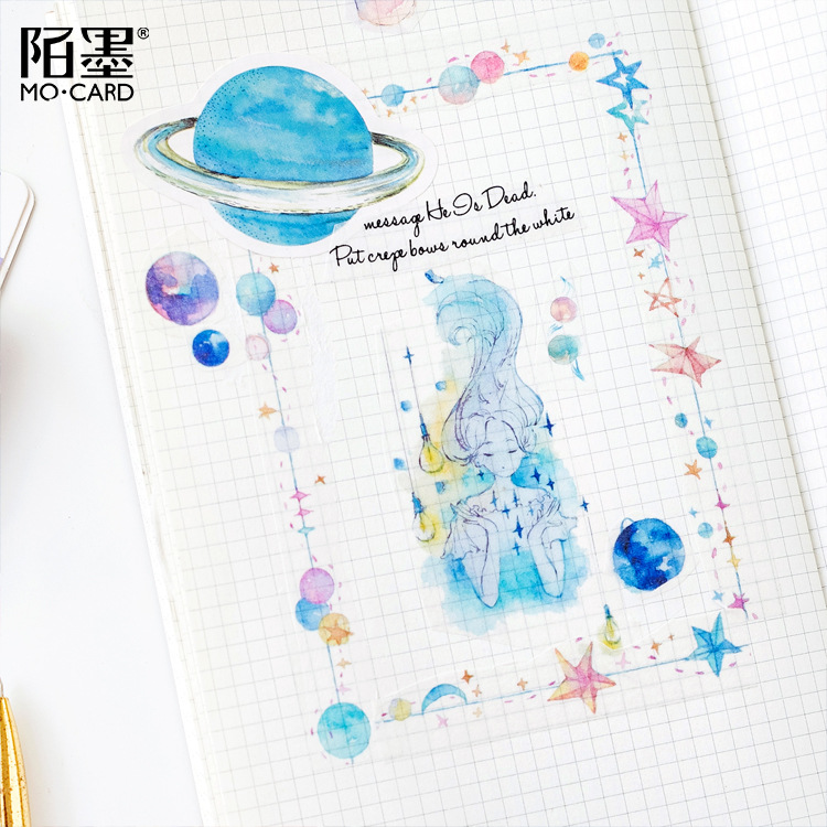 Image 3 - 30 pcs/lot Star 32 Universe Decorative Stickers Adhesive Stickers DIY Decoration Diary Stationery Stickers Children GiftStationery Stickers   -