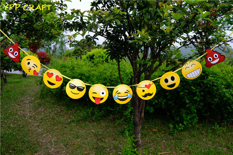 ypp craft emoji handmade paper flags bunting banner for