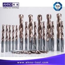 AHNO wiertło z węglika wolframu 5xD do maszyny CNC, najwyższa jakość wiertła z węglika w chinach