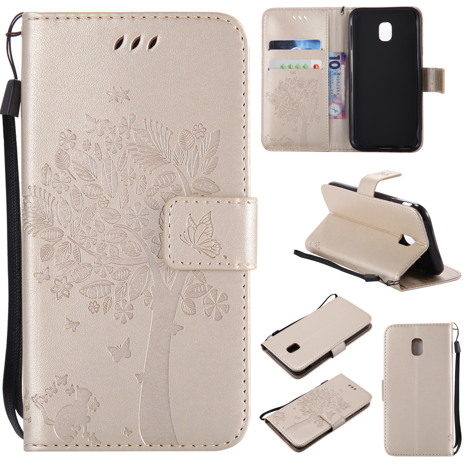 2017 Flip Leather Phone Cover SM-J330FN for Samsung Galaxy J3 LTE SM J330 Case for Samsung SM-J330F/DS Galaxy J3 Duos Cases Case