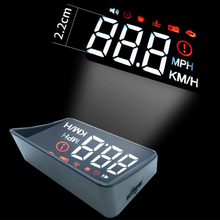 XUNMA Car HUD Head-Up Display OBD2 II EUOBD Overspeed Warning System Projector Windshield Auto Electronic Voltage Alarm bigbigroad car obdii 2 or euobd interface hud head up display digital speedometer windscreen projector overspeed warning