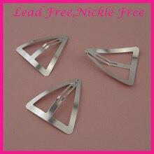 20 шт. 5,5 см Серебристые большие металлические треугольные заколки для волос для женщин девушек защелкивающиеся зажимы заколки для волос