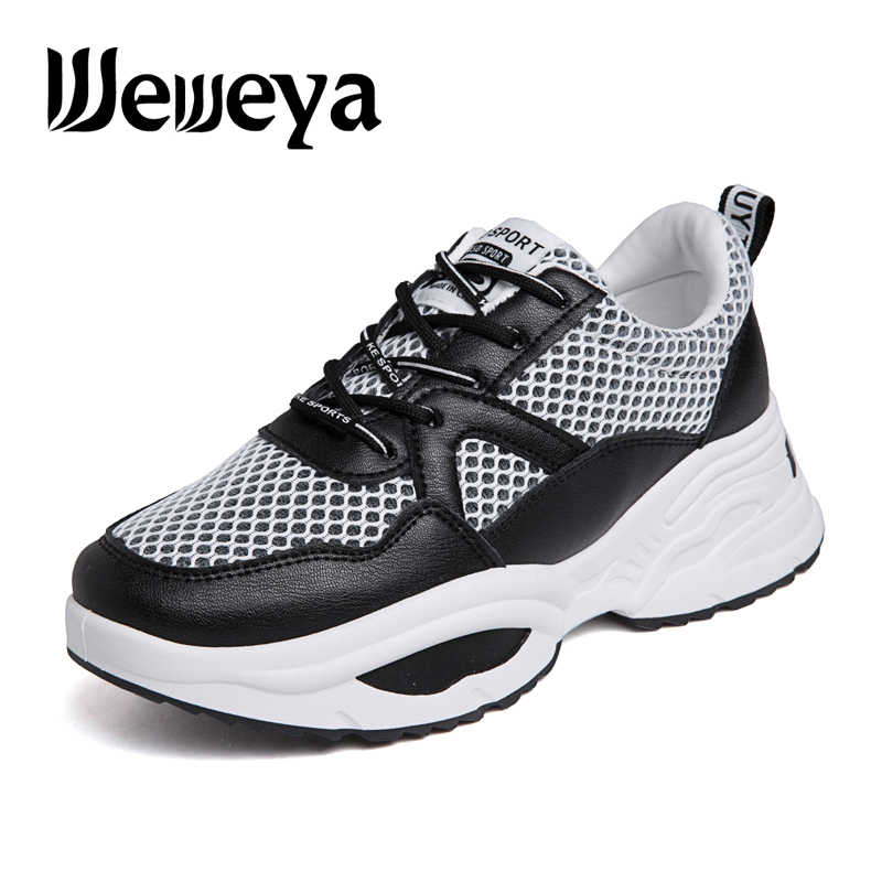 brand new 69159 78e6c Weweya EAF Sneakers Women Ins Trend Running Shoes Woman Height Increasing Sport  Shoes Air Mesh Fitness