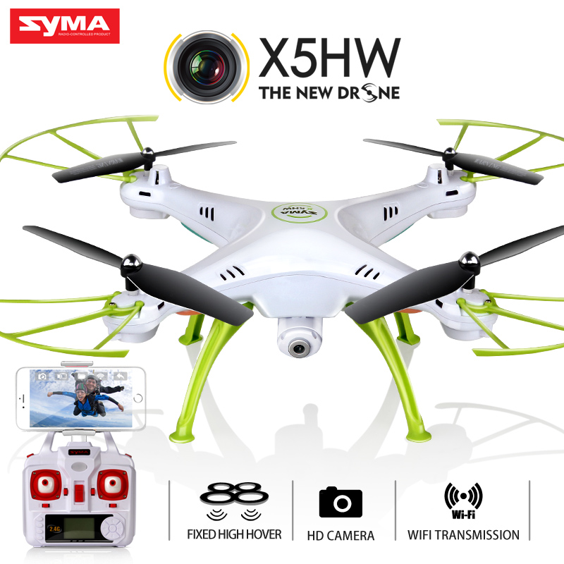 Quadcopter  Syma X5HW (X5SW Upgrade) Drone with Camera HD FPV 2.4G 4CH RC Helicopter  Original Quadrocopter Toy syma x5hw fpv rc quadcopter drone with