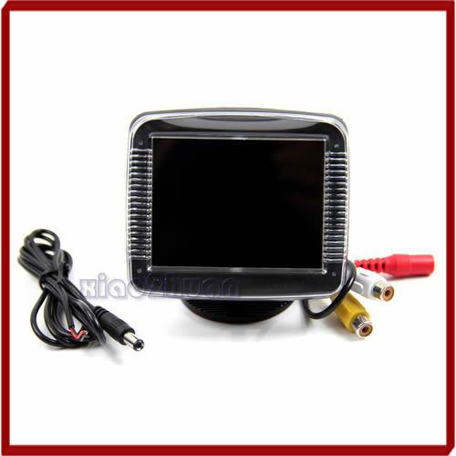 3.5 Polegada Tft LCD Monitor de Câmera de Visão Traseira Do Carro de Backup Reversa