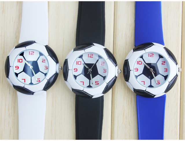 football watches sell like hot cakes. Football hand surface and silicone rubber