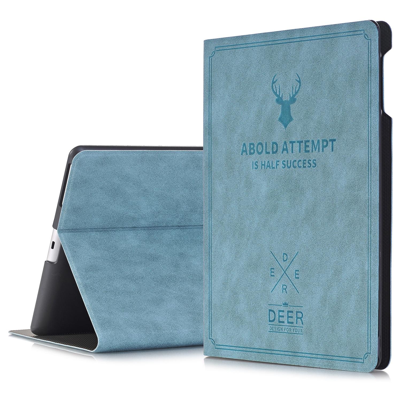 все цены на For iPad 2 / 3 / 4 Cover Wake/Sleep Smart Shell Deer Design Folio Stand Protective Case For Apple iPad 2 iPad 3 iPad 4 онлайн