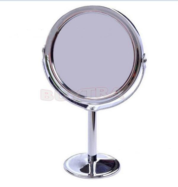 Make-up Spiegel Edelstahl Halter Kosmetische Bad Doppelseitige Schreibtisch Kosmetikspiegel Dia 8 Cm Frauen Damen Home Büro Verwenden Taille Und Sehnen StäRken Spiegel Schminkspiegel