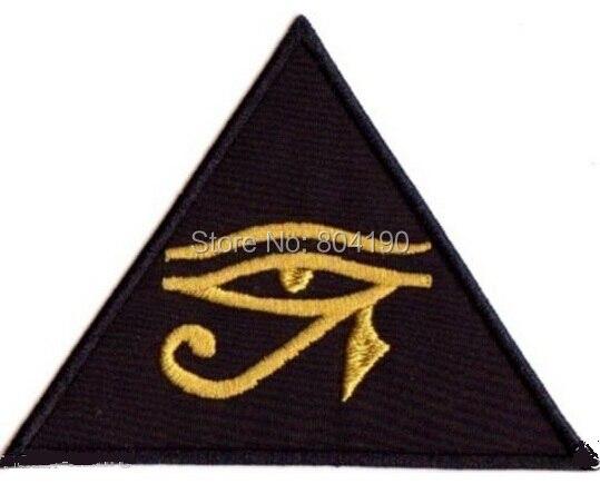 """4 """"oko horusa UDJAT wiedzy okultyzm UTCHAT RA zespół muzyczny haftowane żelazko na łacie aplikacja Rock Punk odznaka w Łatki od Dom i ogród na  Grupa 1"""