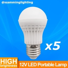 5X12V DC E27 Led Lamp SMD5730 Bulbs Built Aluminum Board Lighting Light 3w 5w 7w 9w 12w 15w Cold Warm White