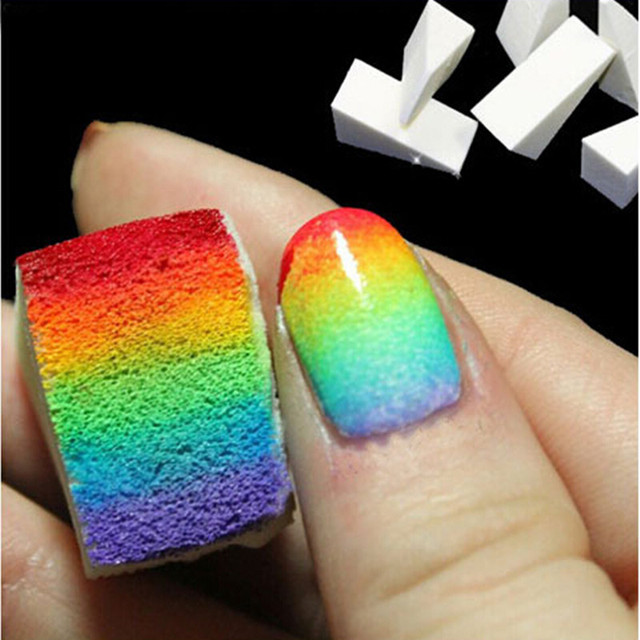 Nail Art Equipment Simple 4 Pcs/ Set DIY Change color Sponge ...