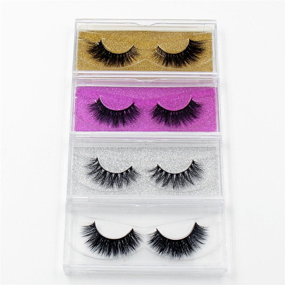LEHUAMAO Mink Eyelashes 3D Mink False Eyelashes Handmade Mink Collection 3D Dramatic Lashes 50 pairs Eyelash