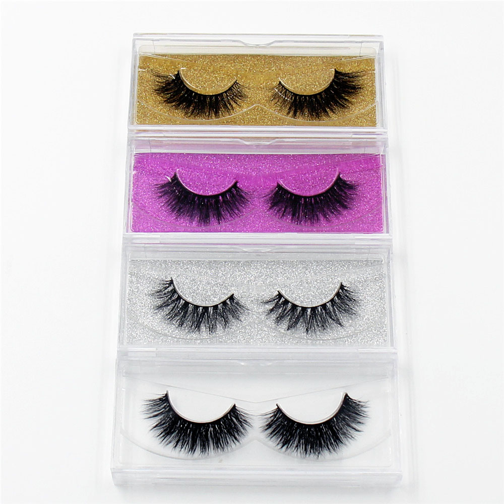 LEHUAMAO Mink Eyelashes 3D Mink False Eyelashes Handmade Mink Collection 3D Dramatic Lashes 50 pairs Glitter Packaging Free DHL mink keer пурпурный s