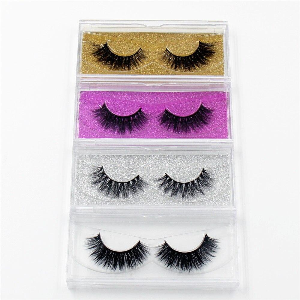 LEHUAMAO Mink Eyelashes 3D Mink False Eyelashes Handmade Mink Collection 3D Dramatic Lashes 50 pairs Glitter Packaging Free DHL