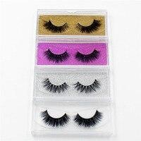 LEHUAMAO Mink Eyelashes 3D Mink False Eyelashes Handmade Mink Collection 3D Dramatic Lashes 50 Pairs Glitter