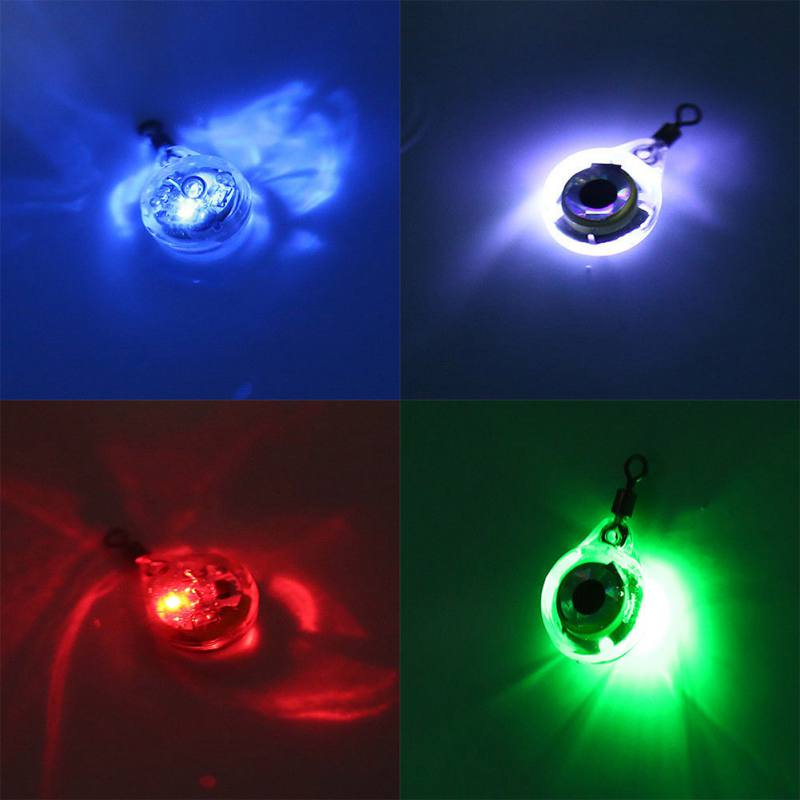 Mini LED Waterproof Lights Underwater Night Fishing Light  Lure For Attracting Fish LED Underwater Night Light Fishing Supplies