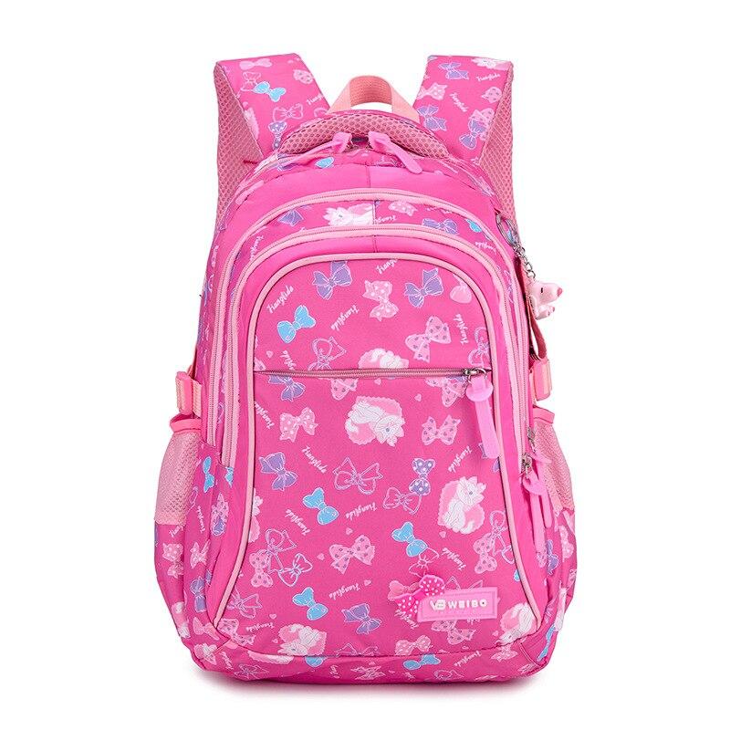 Backpack School-Bags Student Bookbag Girls Waterproof Children New Nylon Cute Printing