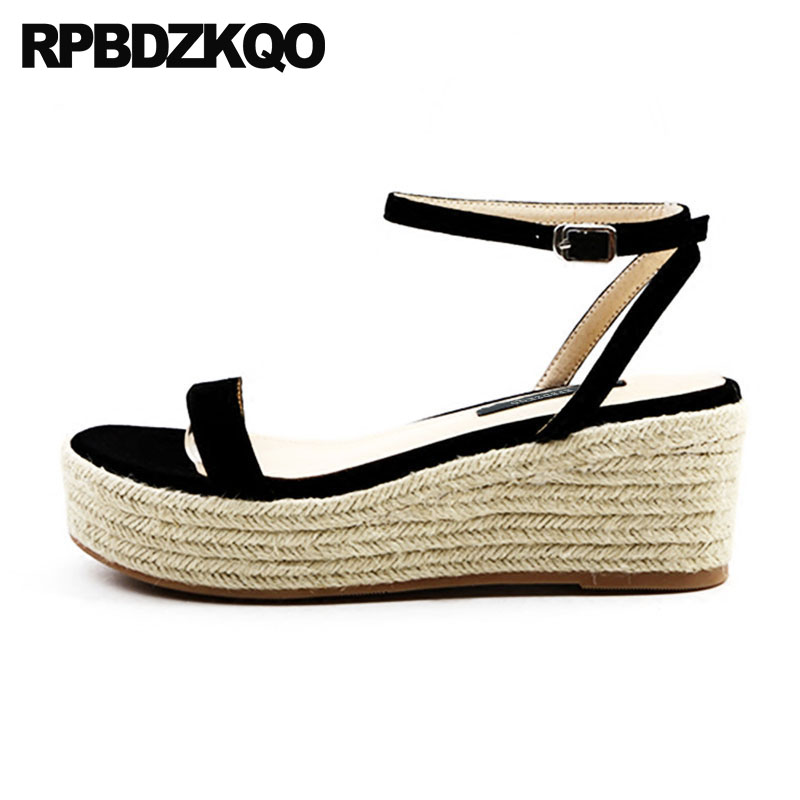 f027b1d858c5ea Xgravity New Designer Woman Pumps Summer Lady Fashion Wedge Sandals Elegant  Genuine Leather Black Platform Shoes High ...
