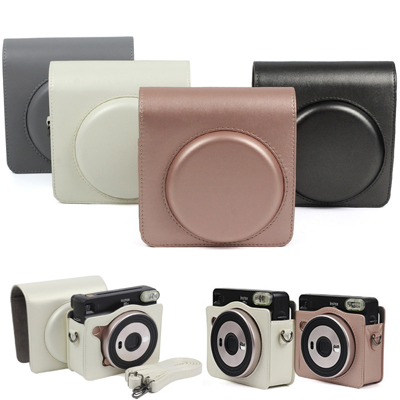 Protective Case for Fujifilm Instax Square SQ6 Instant Film Camera PU Leather Bag with Shoulder Strap For Instant Square SQ6