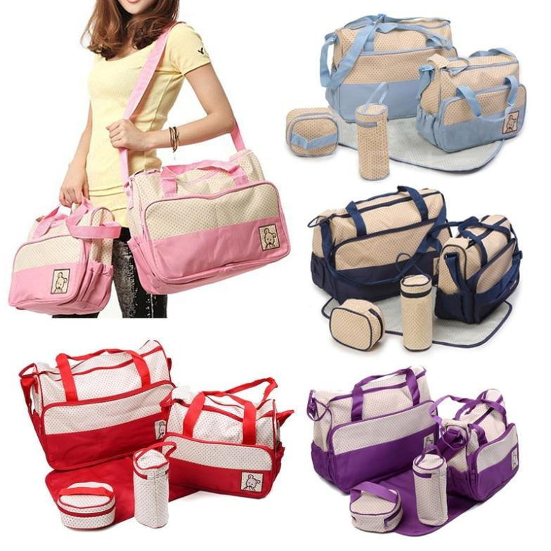 Lastest 5 In1 Fashion Multifunctional Baby Bag Diaper Set Kit Mummy Tote Handbag G In Bags From Mother Kids On Aliexpress Alibaba Group
