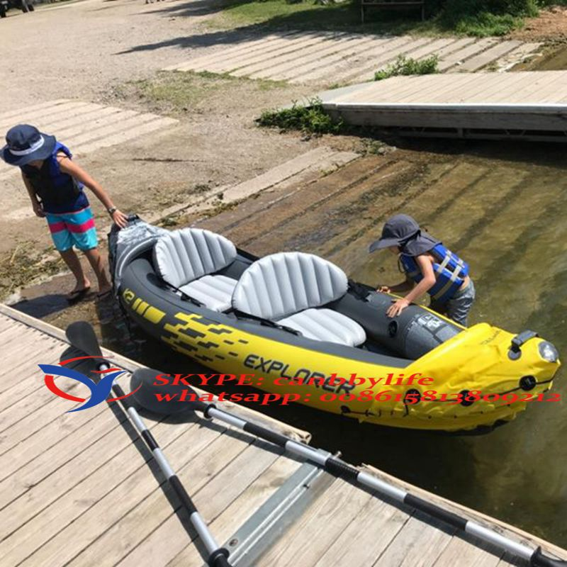 4 Person River Lake Inflatable Blow Up Sea Boat Fishing Water Leisure Paddle