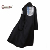 Cosplaydiy Anime Attack on Titan Levi Rivaille Jacket Cloak Adult Halloween Carnival Cosplay Costume J5