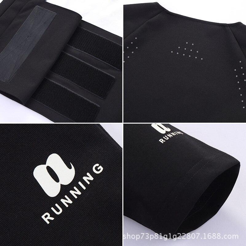 Hot Sweat Sports Waistcoat 5 Times More Sweat Running Suit T-shirt