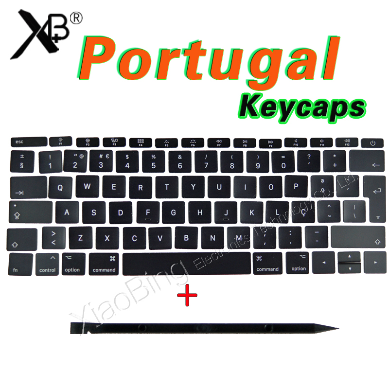 New For Macbook Pro Retina 13 15 A1706 A1707 A1708 PT Portuguese Portugal Keyboard Key Cap Keycaps 2016 2017 image