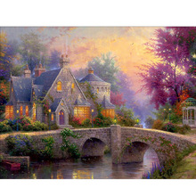 Megayouput 5D diy diamond painting cross stitch kit 3d  embroidery mosaic pattern landscape picture resin drill gift