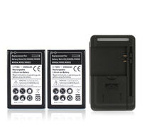 2x 3500mah Note3 Phone Replacement Batteries USB Wall Charger For Samsung Galaxy Note 3 III N9000
