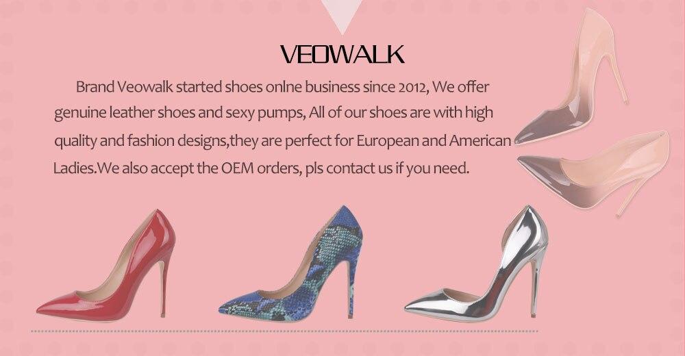 8e420969 Veowalk Sexy mujeres de piel de serpiente en relieve zapatos de ...