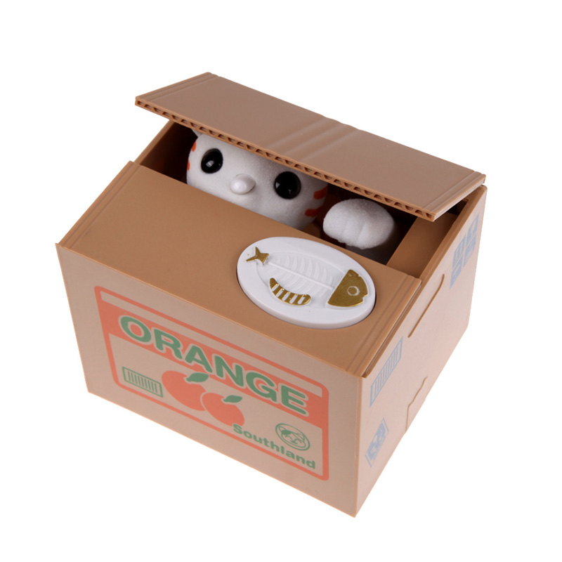 Automated cat money box piggy bank cat coin bank savings for Home money box