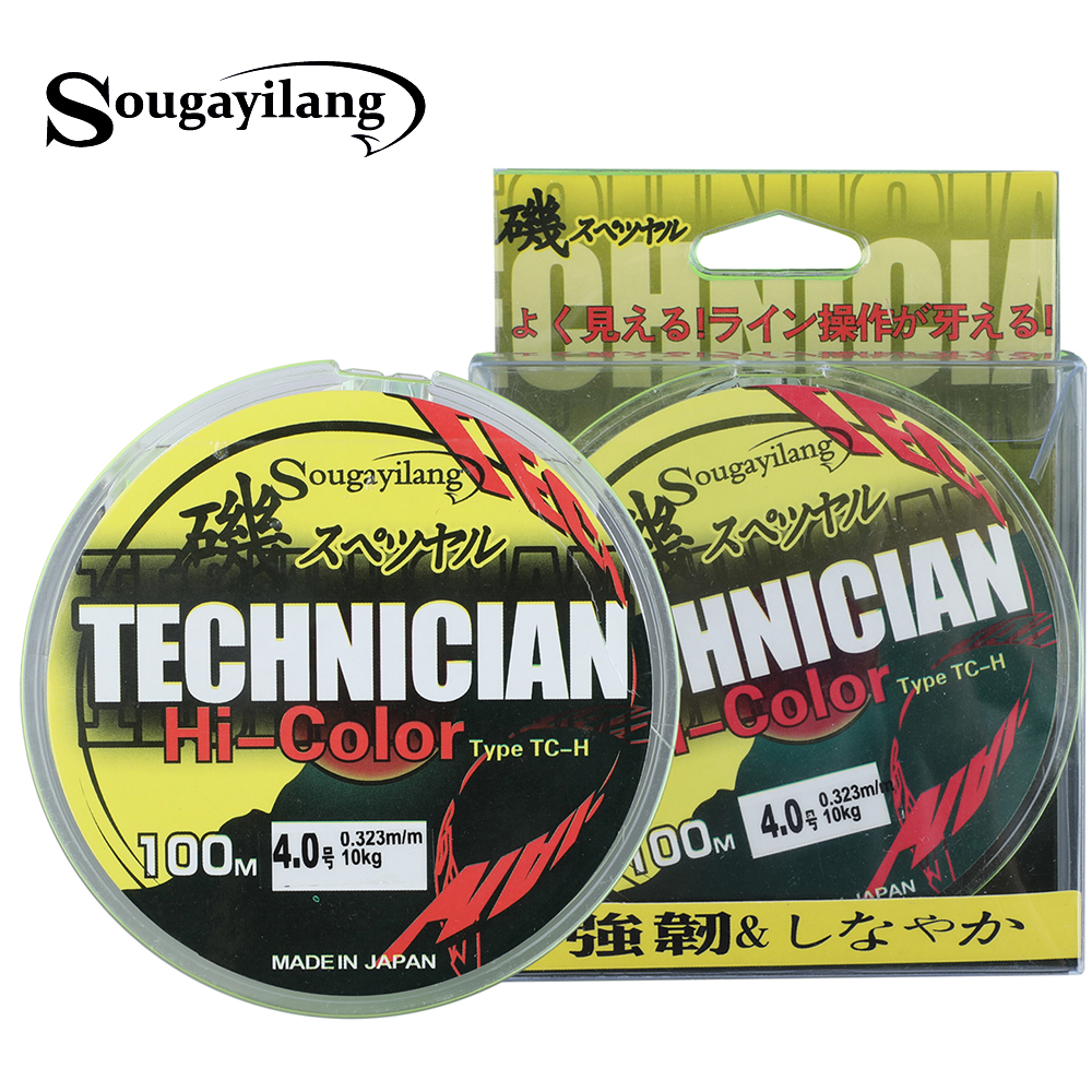 Sougayilang 100M Fluorocarbon Fishing Line Japan 13-43LB 0.2-0.5mm Strong Boat Fly Rock Floating Line Wire Fishing Tackle