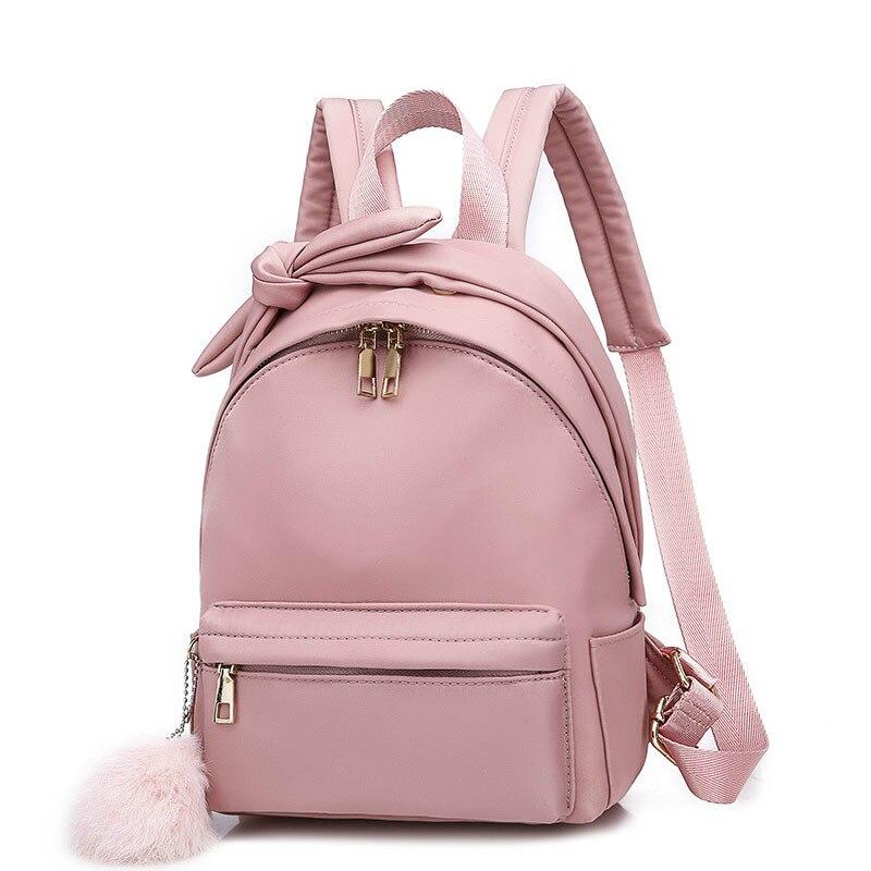 Female backpack Oxford mini Bow school bags Small bookbag Travel designer famous brand women 2019