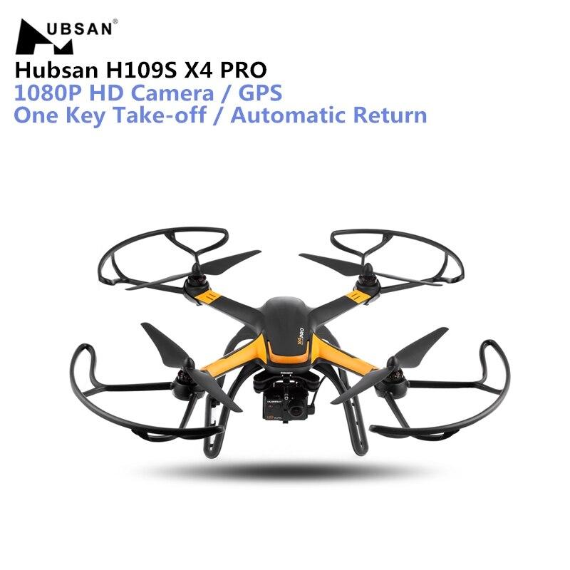 Hubsan H109S X4 PRO Drone 5,8g FPV RC 1080 p HD Cámara GPS 7CH RC Quadcopter con 1- ejes sin escobillas cardán retorno automático