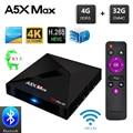 A5X MAX Android 8.1 TV Box RK3328 4GB RAM 32GB ROM USB 3.0 2.4GHz WiFi Bluetooth Media Player 4K HD Smart Set Top Box PK MX10