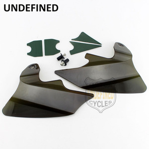 Image 3 - Motorcycle Smoke Reflective Saddle Shield Air Heat Deflector For Harley Touring Road King Electra Glide 1997  2007 UNDEFINED