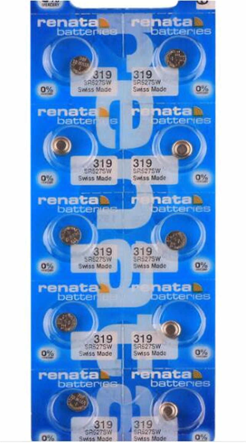 5ピース小売真新しいレナータ長続き319 sr527sw SR527 v319時計電池ボタンコイン電池スイスメイド100%オリジナル