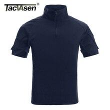 TACVASEN Herren Camouflage Taktische T Shirts Sommer Kurzarm Airsoft Armee Kampf T shirts Leistung Tops Military Kleidung