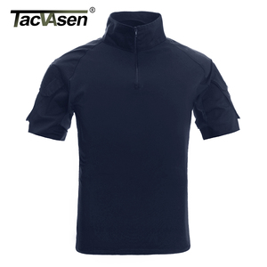 Image 1 - TACVASEN Mens Camouflage Tactical T Shirts Summer Short Sleeve Airsoft Army Combat T shirts Performance Tops Military Clothing