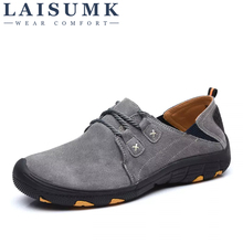 2019 LAISUMK Genuine Leather Autumn Winter Warm Fur Male Shoes For Men Sneakers Casual Brand Quality Fashion Walking Footwear