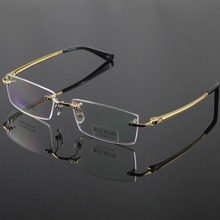 Unisex brillengestell mode brillen männer randlose titanium gläser frauen optische brille brillenfassungen oculos von grau