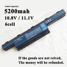 5200 mAh แบตเตอรี่แล็ปท็อปสำหรับ Packard Bell Easynote TK36 TXS66HR TS13SB Aspire 4755G 4755ZG 5253G 5551G 5745g 5336G 5552TG 4370G