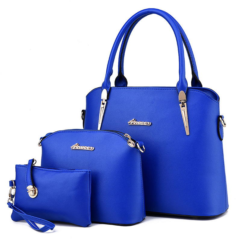 New Brand Fashion Leather Bag Bolsa Feminina Womens Medium Big Tote Bag European Female Crossbody Bags For Women Handbag 3 Sets aosbos fashion portable insulated canvas lunch bag thermal food picnic lunch bags for women kids men cooler lunch box bag tote