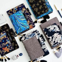 2019 japoneses pintura vieja diario organizador planificador programa Agenda cuaderno lácteos diario de bala cubierta de libro para Hobonichi A5 A6