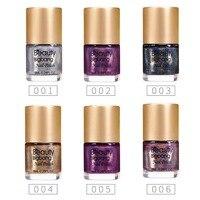 BeautyBigBang 6 bottles Holographic Nail Polish NEW Arrival 2018 Colorful Holo nailpolish nail varnish Glitter Nail Polish Set