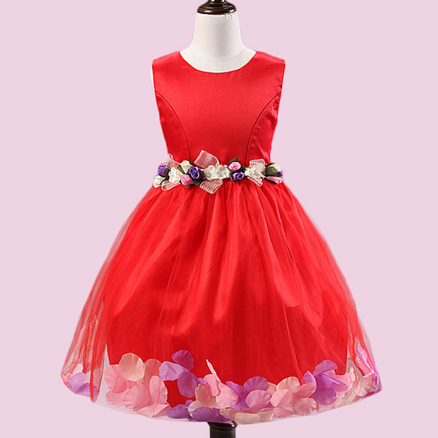 Girls Flower Dress Baby Butterfly Birthday Party Dresses Children ...