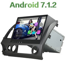 """2 din Android 7.1.2 Quad core 10.1"""" 2GB RAM Car Media Player With GPS Navi Radio For Honda Civic 2006 2007 2008 2009 2010 2011"""