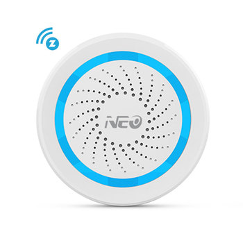 NEO Z-wave Plus Wireless Alarm Siren Home Automation Battery-Powered EU 868.4MHz Sound Light ZWave Siren Alarm Sensor